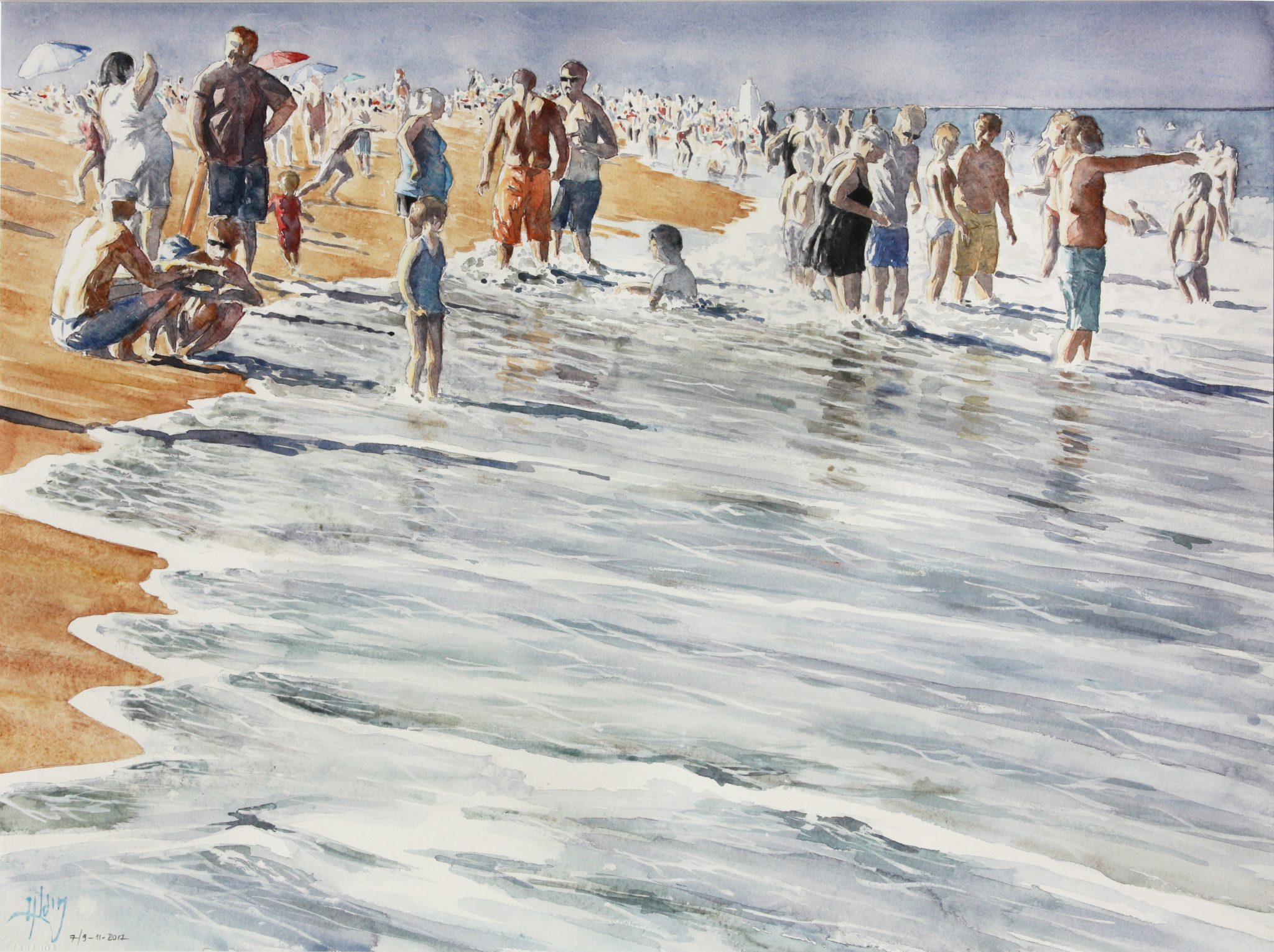 Plage de Chincoteague - 56x76cm