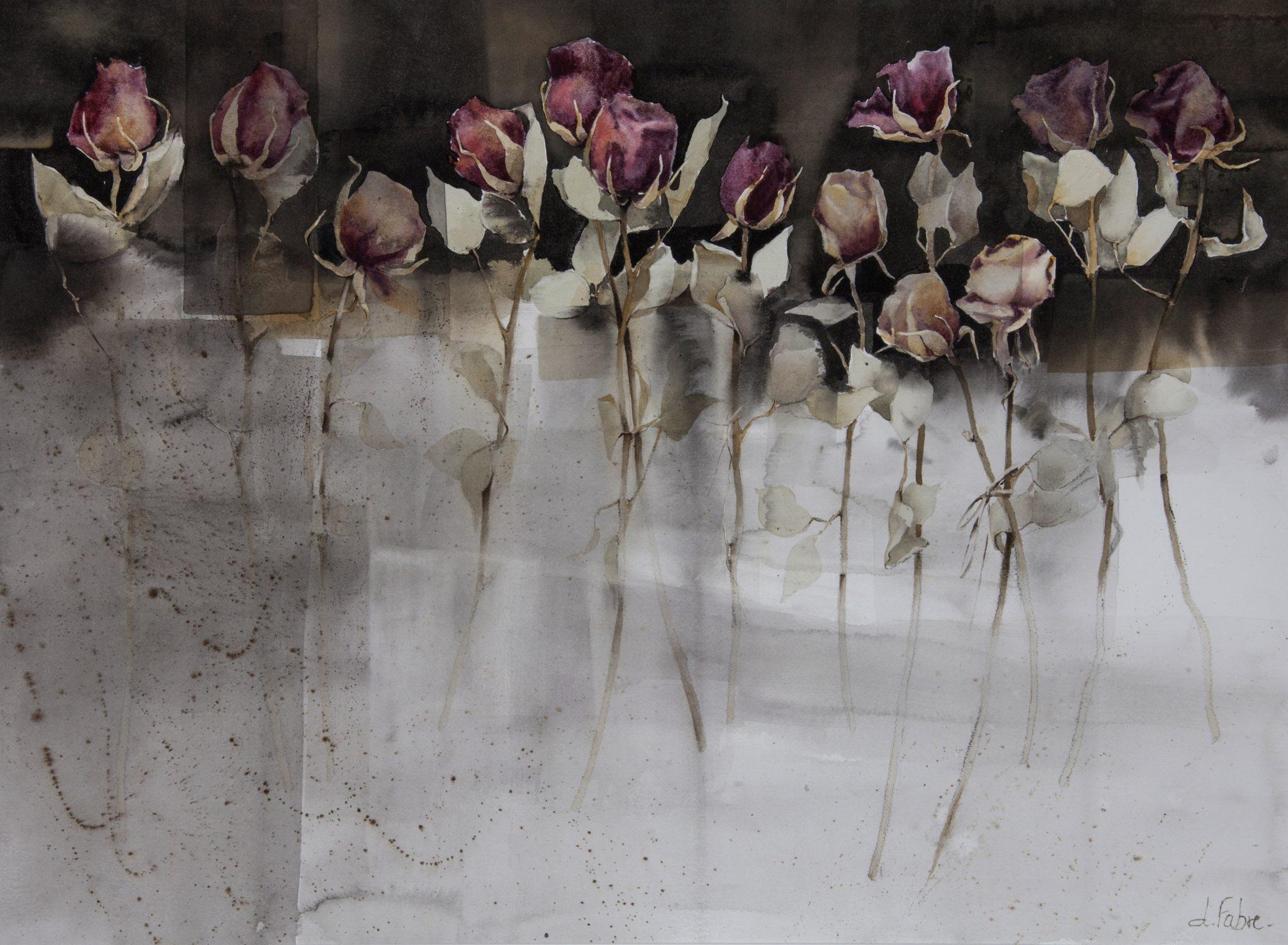 Danse des roses - 56x76cm