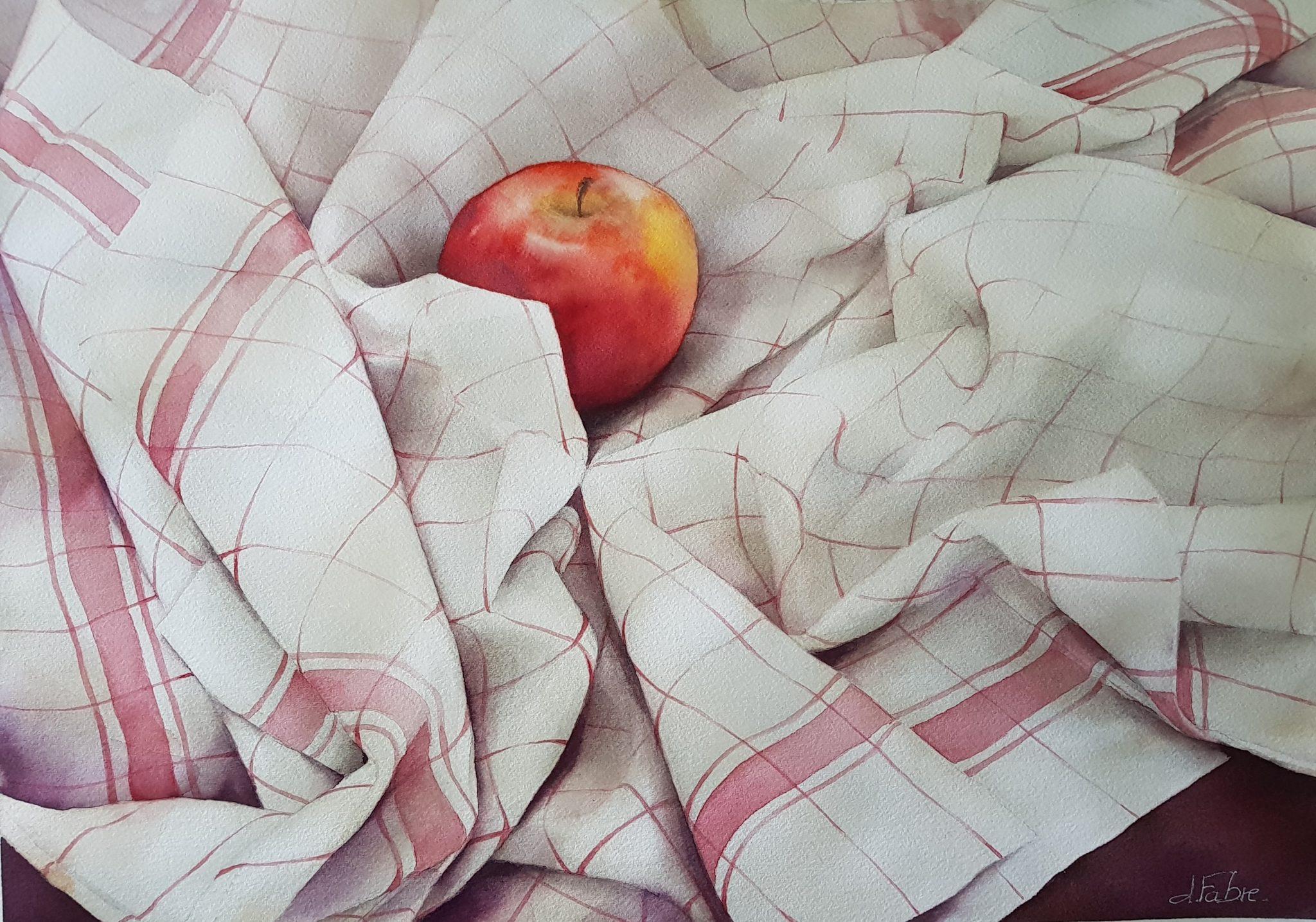 La solitude d'une pomme - 50x60cm