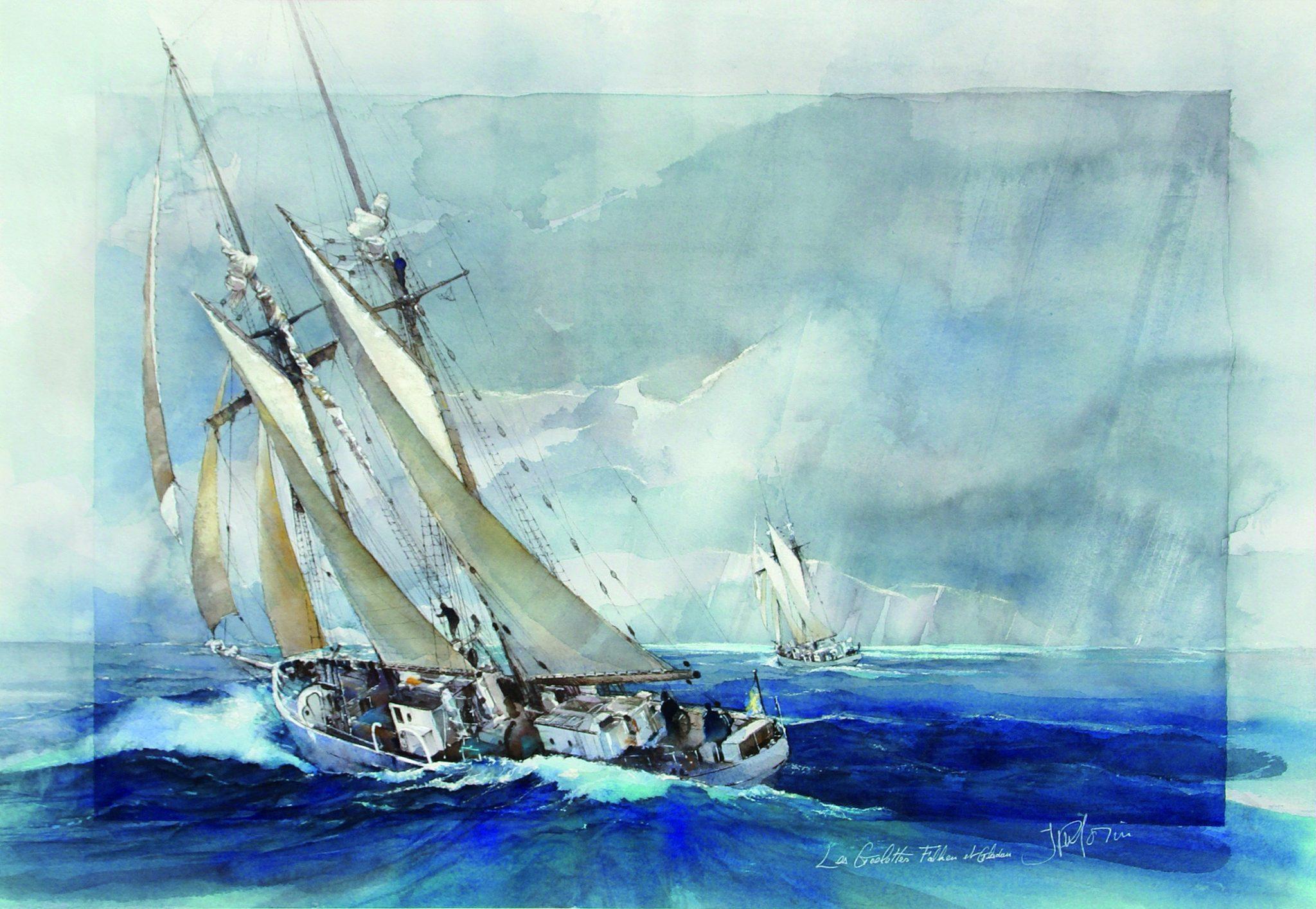 Swedens schooners - 52x72cm