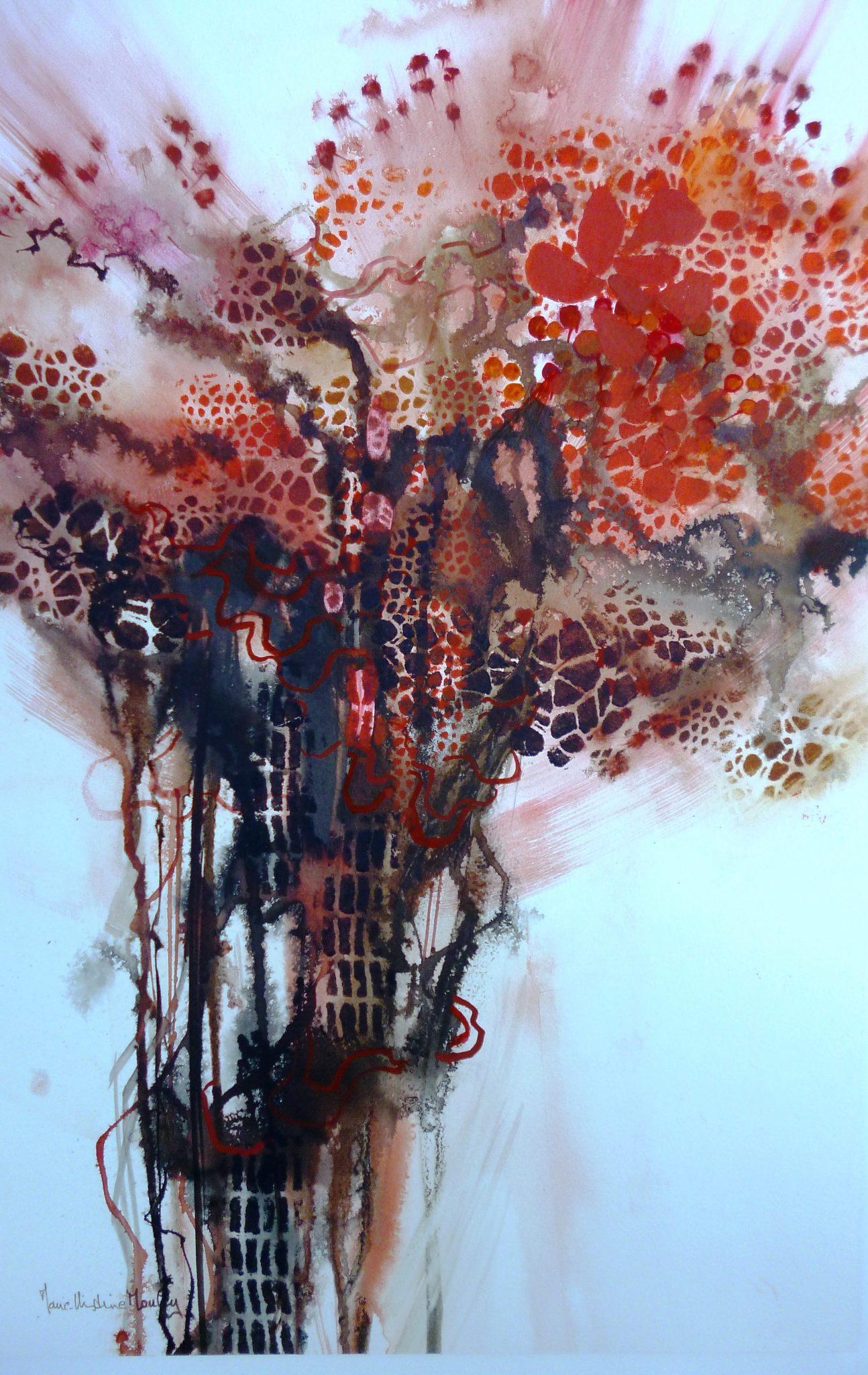 Bouquet rouge - 70x50cm