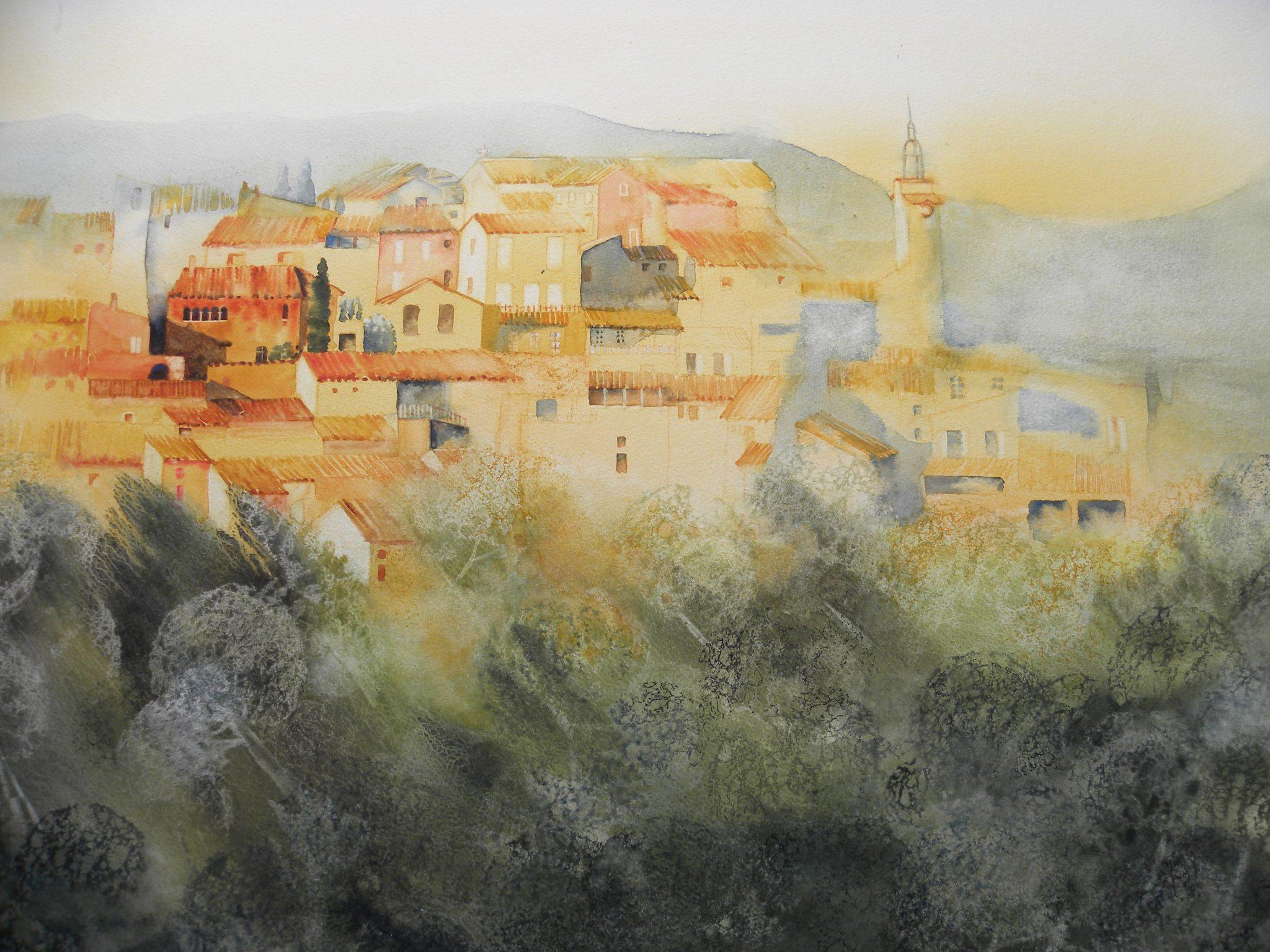 Roussillon dans son écrin sylvestre - 60x80cm