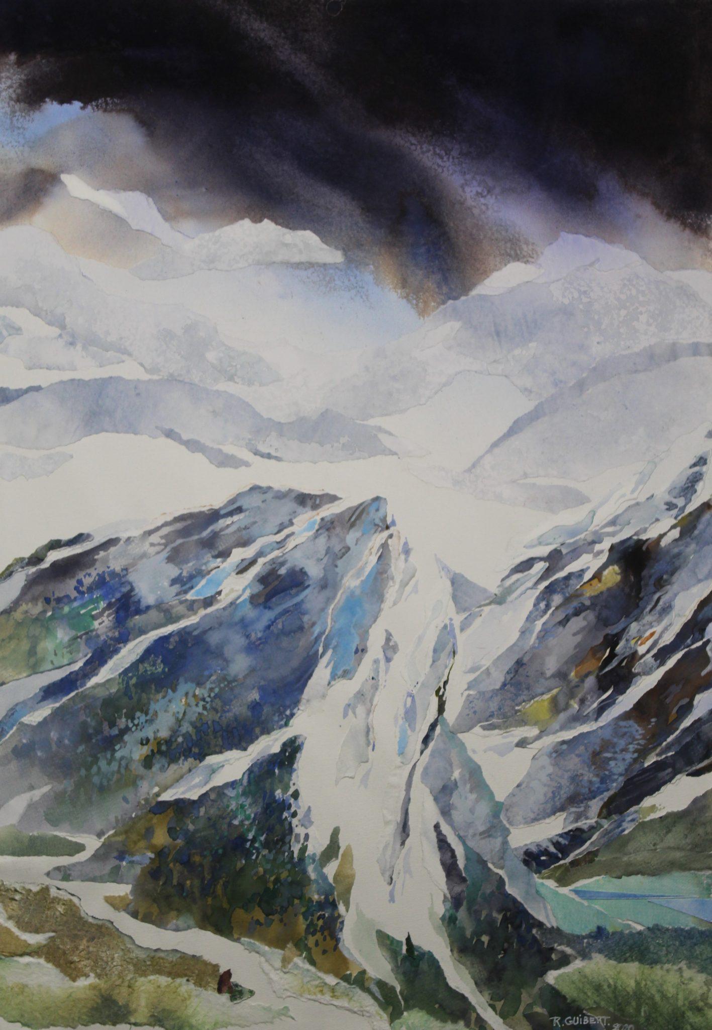 Grand glacier - 70x50cm