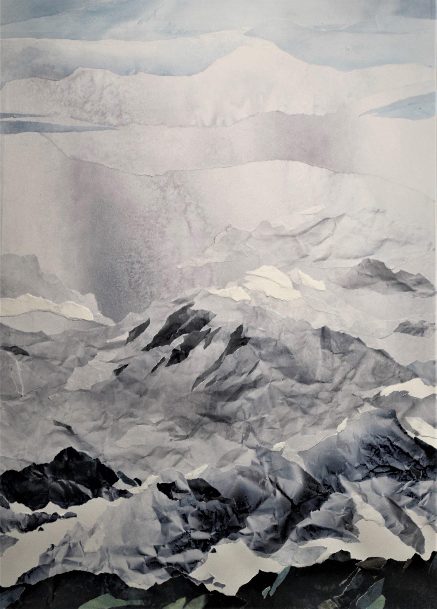 Grisaille alpine - 70x50cm
