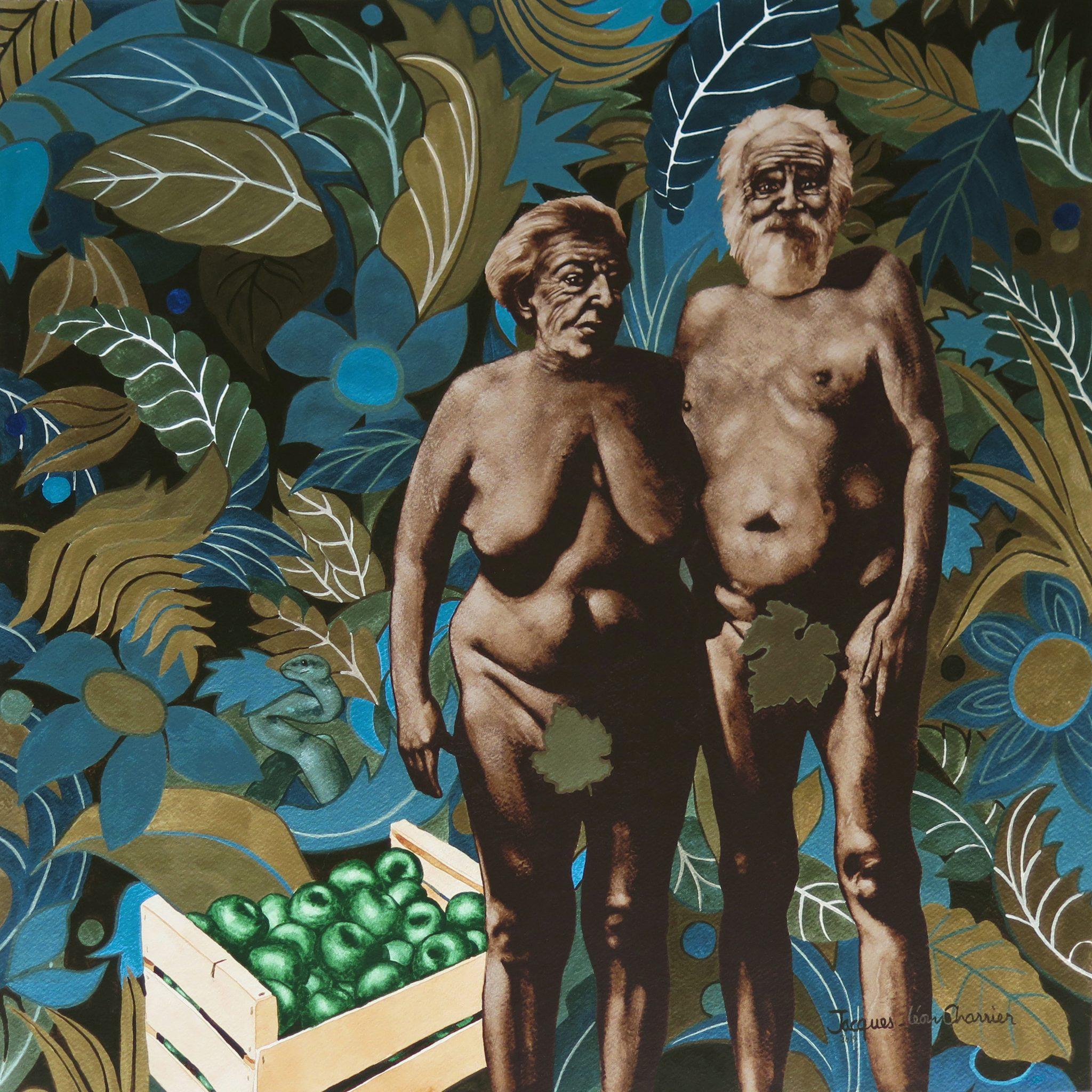 Adam Et Eve - 54x54cm