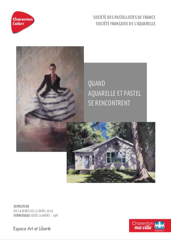Quand aquarelle et pastel se rencontrent - Charenton 2019