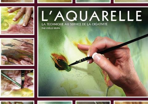 Visuel Publication L'Aquarelle - La technique au service de la créativité - KRUPA