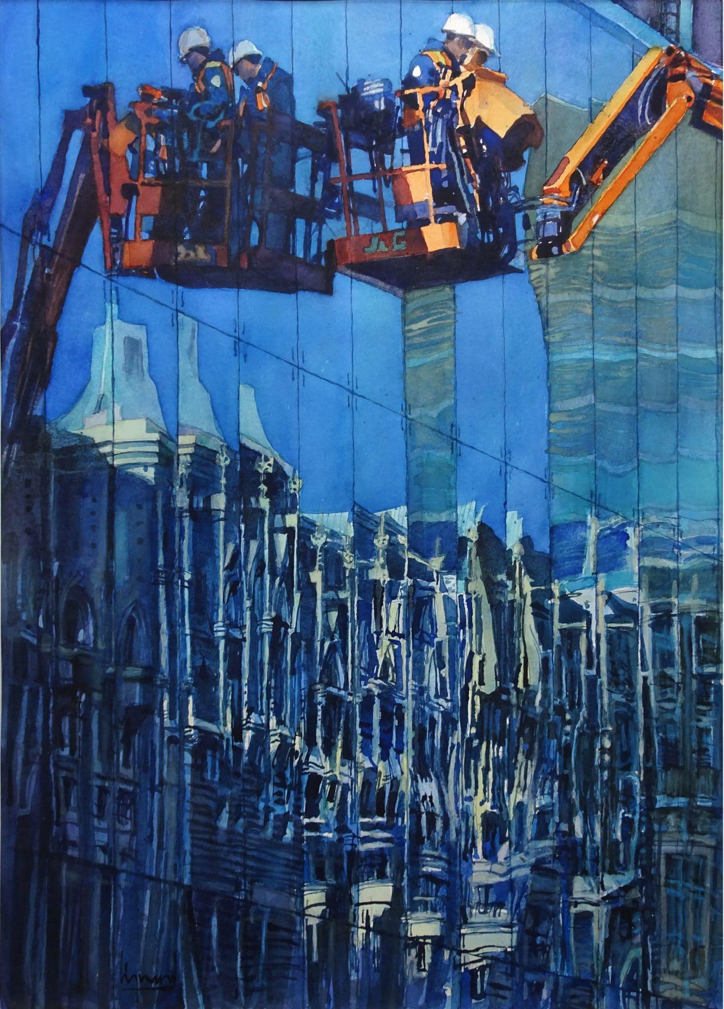 Réflexions, Montréal - 70x50cm