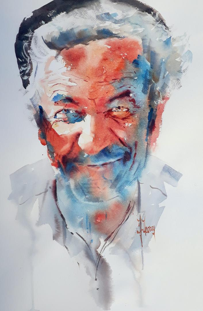 """Homme souriant"" (40x55 cm)"