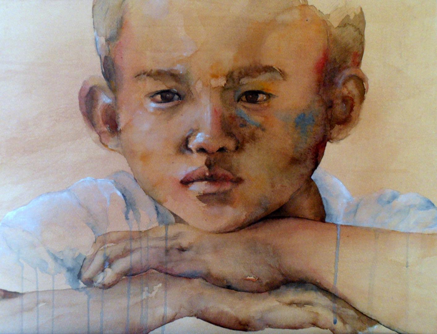 """""""Thai boy"""" (56x76 cm)"""