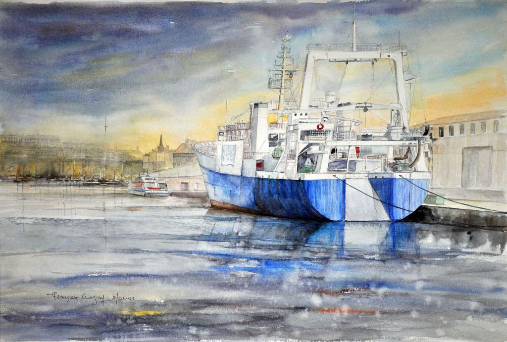 """""""Le quai de Terre Neuve à St-Malo"""""""