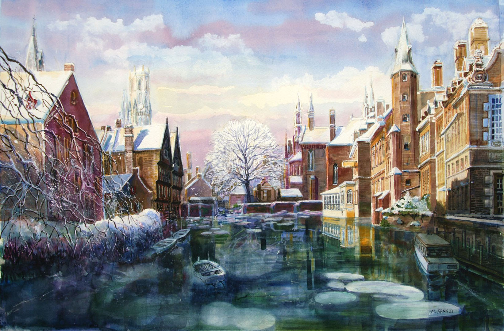"""Hiver à Bruges"""