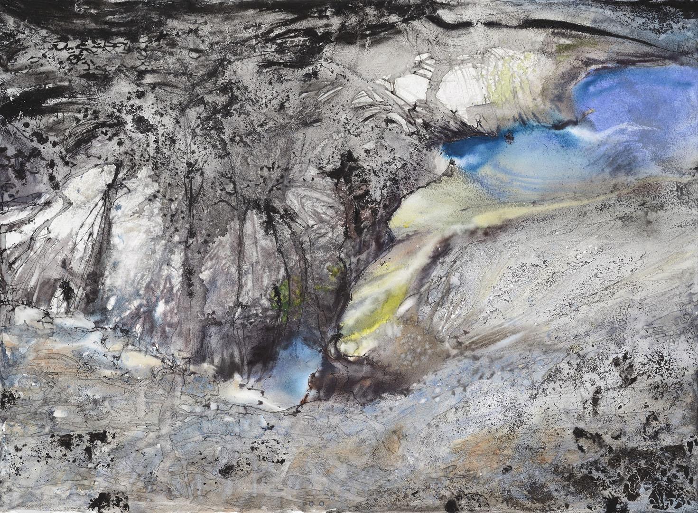 """""""Cendres et laves"""" (73x100 cm)"""