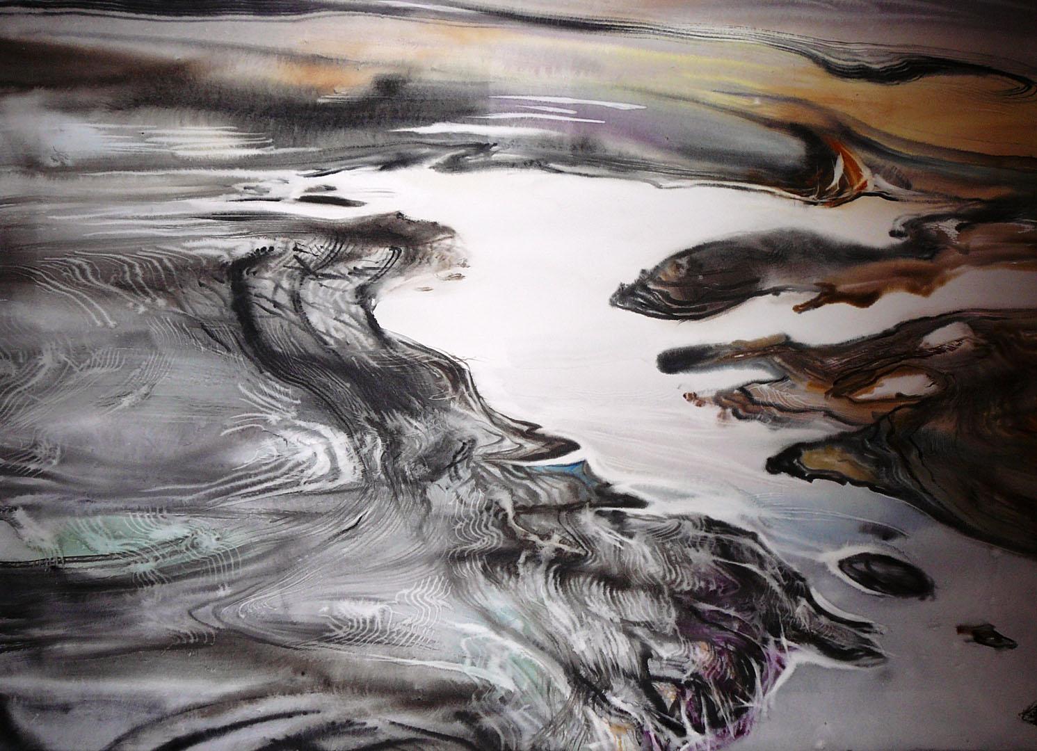 """Glacier Sjonarnipa"" (73x100 cm)"