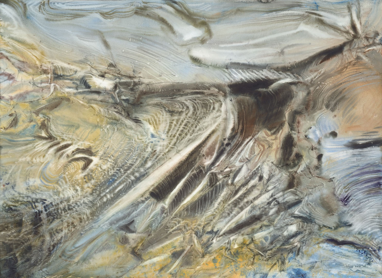 """""""La vague immobile"""" (73x100 cm)"""
